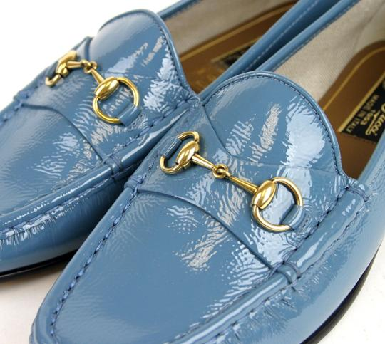 Gucci Blue Horsebit 1953 Soft Patent Leather Loafer It 38/ Us 8 338348 Shoes Image 4