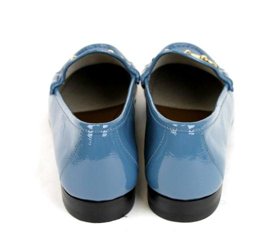 Gucci Blue Horsebit 1953 Soft Patent Leather Loafer It 38/ Us 8 338348 Shoes Image 5
