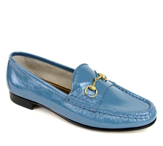 Gucci Blue Horsebit 1953 Soft Patent Leather Loafer It 38/ Us 8 338348 Shoes Image 6
