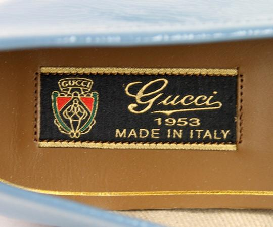 Gucci Blue Horsebit 1953 Soft Patent Leather Loafer It 38/ Us 8 338348 Shoes Image 7