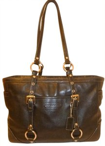 Coach Refurbished Leather Lined Tote in Black