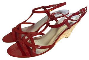 Nine West Red patent Wedges