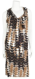 Marni short dress black & brown on Tradesy