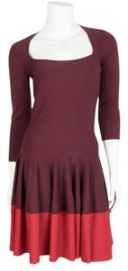 Alexander McQueen short dress maroon & red on Tradesy