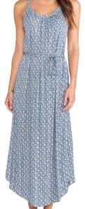 Blue and White Maxi Dress by Joie