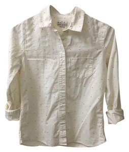 Broadway & Broome Casual Collar Work Button Down Shirt Ivory and Pink
