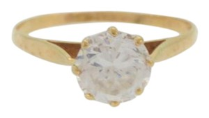 Other Vintage, 8 Pronged Solitaire Diamond Ring-9k Yellow Gold
