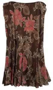 East 5th Essentials Skirt Brown Pink White