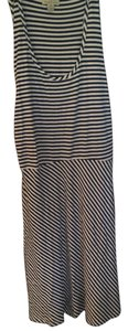 TEHAMA short dress navy blue stripe on Tradesy