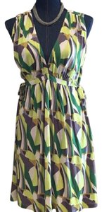 French Connection short dress yellow/gray/green/white on Tradesy