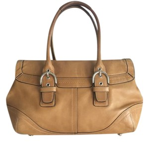 Coach Leather Satchel in Camel