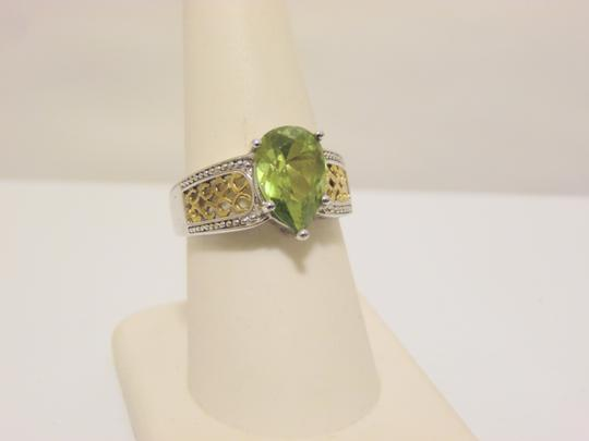 Technibond Technibond Pear Shape Peridot Gemstone Ring Size 8