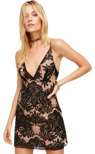 Free People Sequin Evening Lace Mini Date Dress