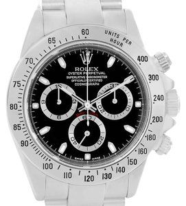 Rolex Rolex Cosmograph Daytona Stainless Steel Black Dial Mens Watch 116520