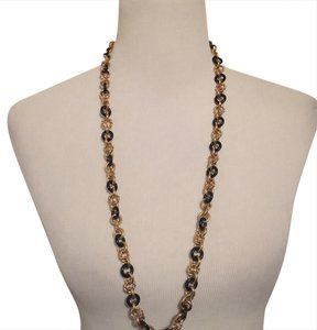 Juicy Couture Gold & Black Chain Link