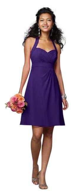 Item - Eggplant Chiffon 7172 Formal Bridesmaid/Mob Dress Size 8 (M)
