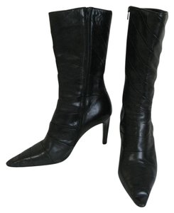Michel Perry Chevron Leather BLACK Boots