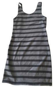 Divided by H&M short dress Grey with black striped on Tradesy