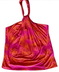 Rachel Pally Hot Pink & Orange Halter Top