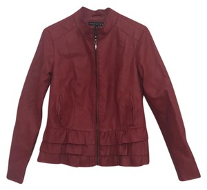 Baccini Red Leather Jacket