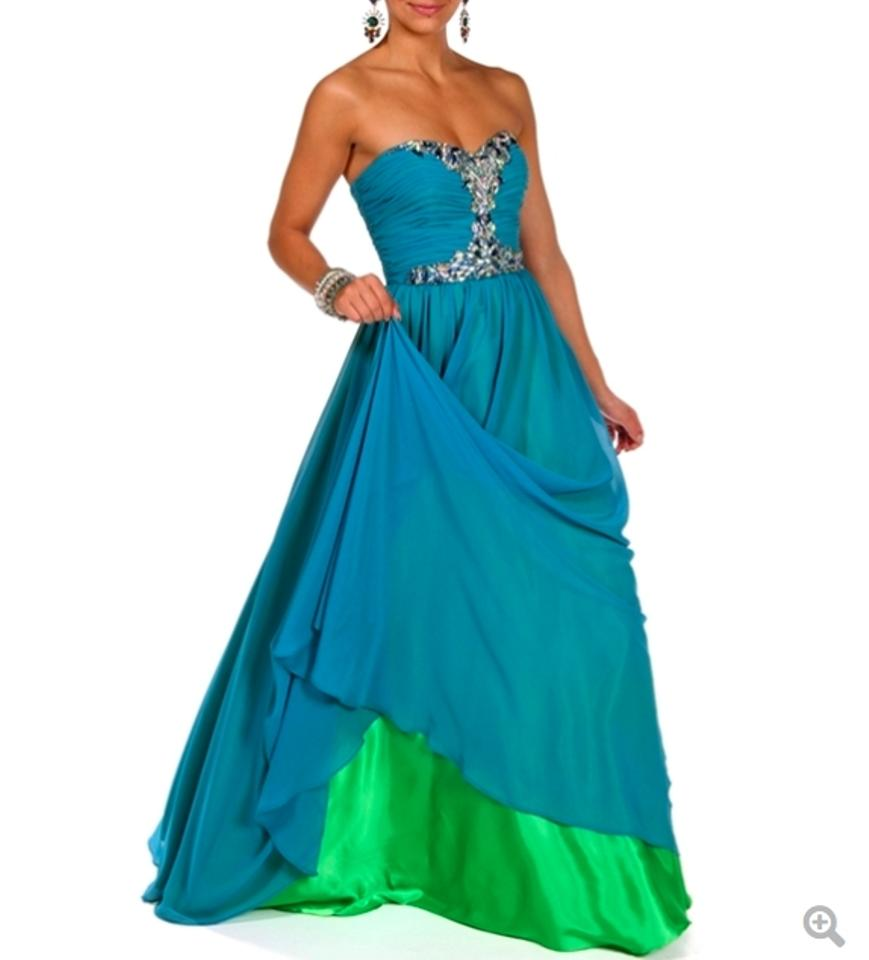 Masquerade Blue New Bridesmaid Strapless Prom Homecoming Evening ...