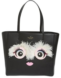 Kate Spade Limited Edition Big Eye Face Leather Monster Face Tote in Black