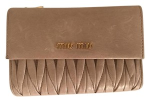 Miu Miu Wallet Tan Clutch