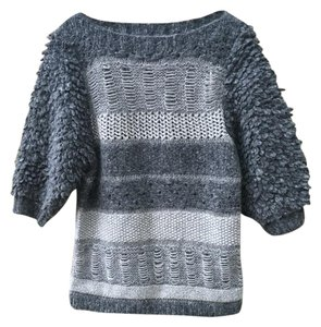 Marc by Marc Jacobs Funky Shaggy Soft Striped Sweater