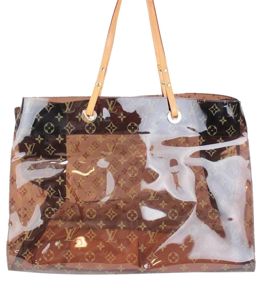 3d85ab2f2dac Louis Vuitton Cabas Cruise Gm Limited Edition Pool Beach Spa Purse Tote in Vinyl  Monogram Ambre ...