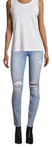 7 For All Mankind Distressed Skinny Skinny Skinny Jeans-Distressed