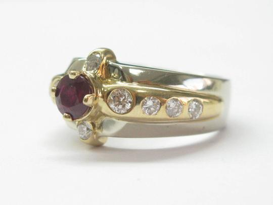 Other Estate Gem Ruby Diamond 2-Tone Jewelry Ring 1.72CT Image 4
