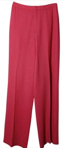 Ellen Tracy Trendy High Chic Wide Leg Pants Coral Pink