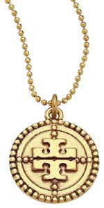 Tory Burch TORY BURCH OX Coin Logo Pendant Necklace