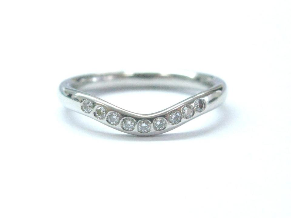 b31777fb7 Tiffany & Co. Tiffany & Co Platinum Elsa Peretti Curved Diamond Wedding  Band Ring .