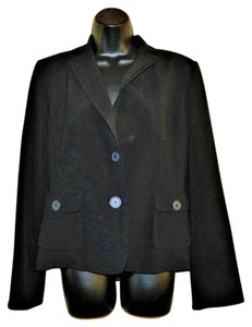 Max Studio Lined Dryclean Only Button Black Blazer