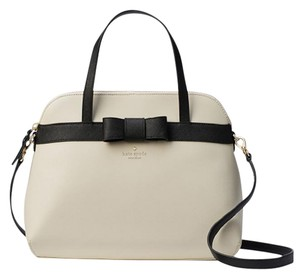Kate Spade Julio Kirk Park Saffiano Leather / Satchel in Porcelain / Black