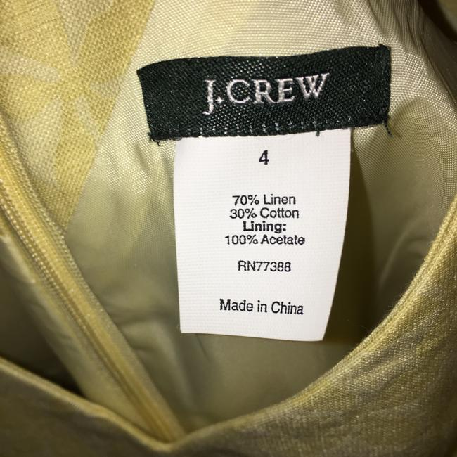 J.Crew Yellow Mid-length Cocktail Dress Size 4 (S) J.Crew Yellow Mid-length Cocktail Dress Size 4 (S) Image 4