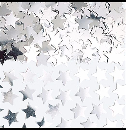 Silver Mini-star Confetti (2 4-oz Bags) Reception Decoration