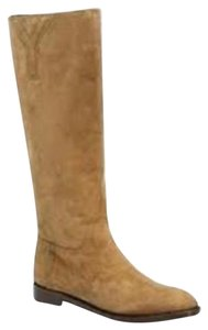 Saint Laurent Ysl New Chyc Leopard Pony Tobacco Brown Boots