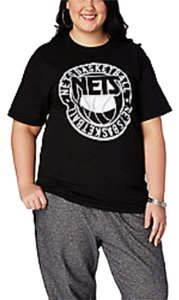 Mighty Fine Brooklyn Nets Brooklyn Nets T Shirt Black