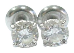 Other Fine Round Cut Diamond Stud Earrings .97Ct SCREW BACK White Gold