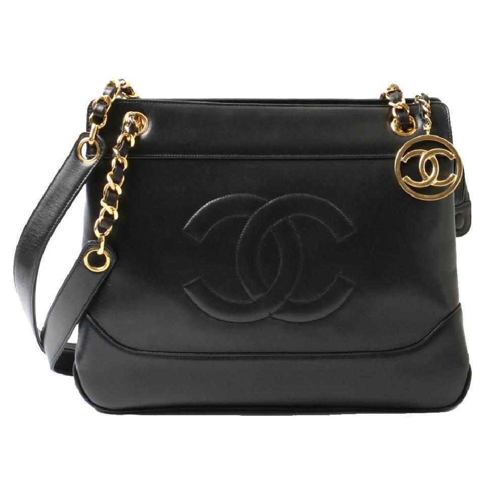 a14a5e3fb2a8 Chanel Vintage Lambskin Cc Stiching Black Tote Bag on Sale, 60% Off | Totes