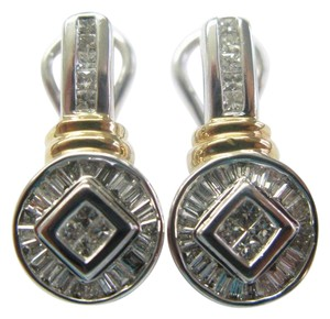 Other Fine 2-Tone Multi Shape Diamond Earrings 1.20Ct