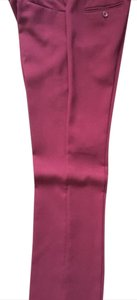 The Limited Straight Pants Burgundy
