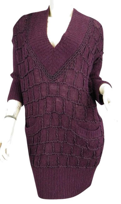 Preload https://img-static.tradesy.com/item/2111362/catherine-malandrino-purple-alpaca-lacing-detail-tunic-size-small-eggplant-sweater-0-1-650-650.jpg