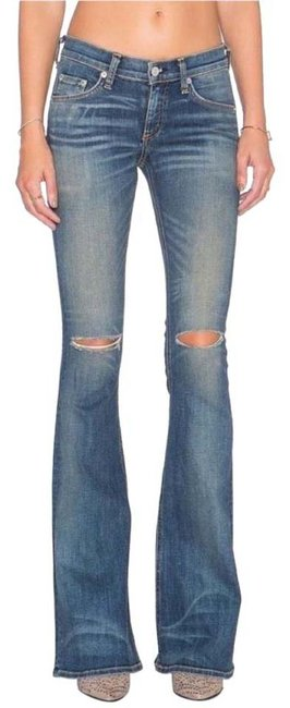 Item - Distressed Elephant Bell Flare Leg Jeans Size 28 (4, S)