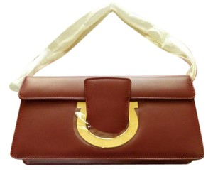 Salvatore Ferragamo Leather Italian RED Clutch