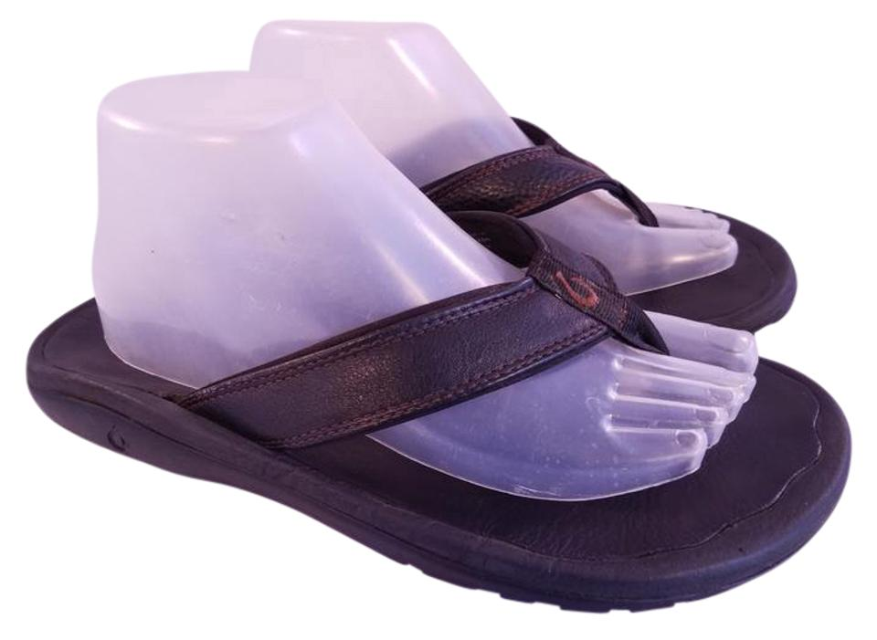 54033dc2f7 Olukai Black Men s Ohana Flip Flop Sandals Size US 10 Regular (M