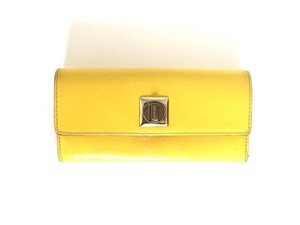 Kate Spade Yellow Wallet with front clasp