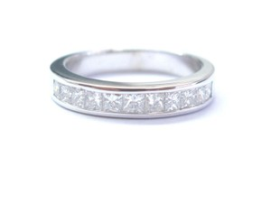 Other Fine Princess Cut Diamond 11-Stone White Gold Band Ring 1.10Ct